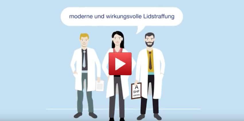 Lidkorrektur München - Video wie läuft eine Lidstraffung OP ab? Slideshow mit OP Bildern.