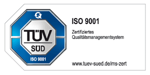 TÜV geprüft ISO 9001 - Zertifiziertes Qualitätsmanagementsystem