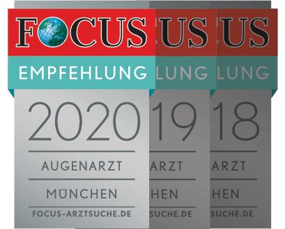 Focus Empfehlung 2020 Augenarzt München: Dr. med. Amir-Mobarez Parasta