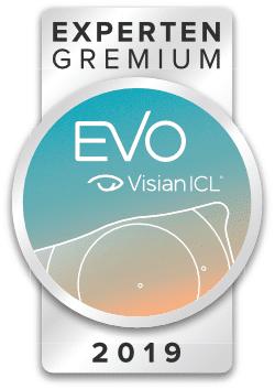 EVO Visian ICL Experten Gremium Siegel 2019 verliehen an Dr. Amir-Mobarez Parasta